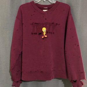LF vintage looney tunes tweety sweater